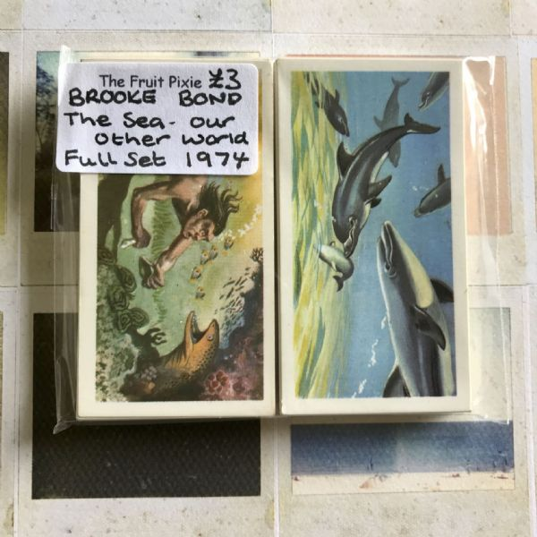 1974 - The Sea Our Other World - Brooke Bond Tea Cards, Full Set